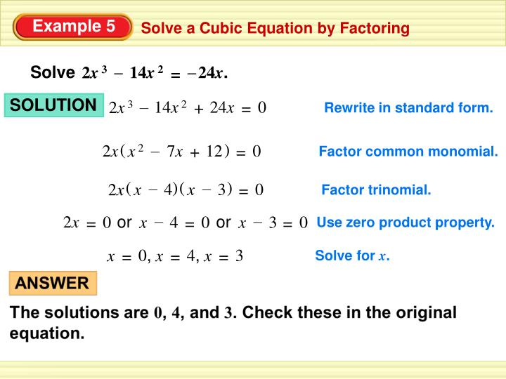 Ppt 65 Factoring Cubic Polynomials Powerpoint Presentation Id