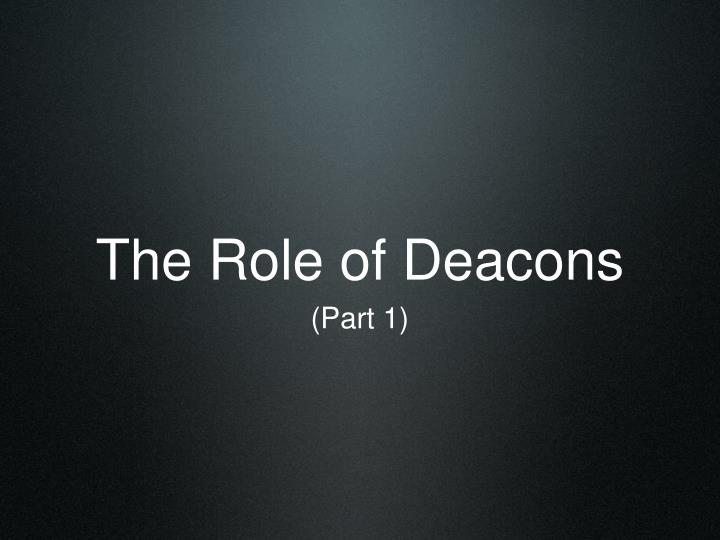 the role of deacons n.