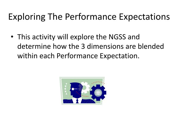 Exploring The Performance Expectations