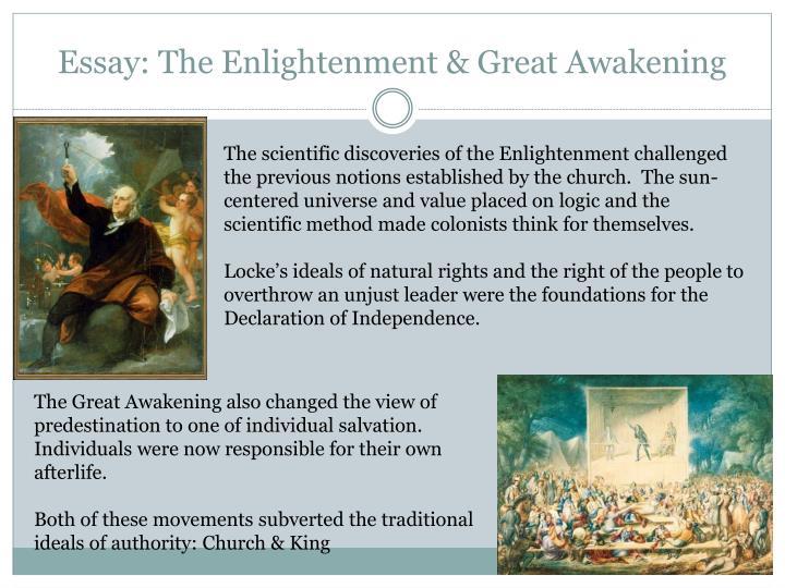 Essay: The Enlightenment & Great Awakening