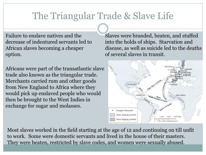 The triangular trade slave life