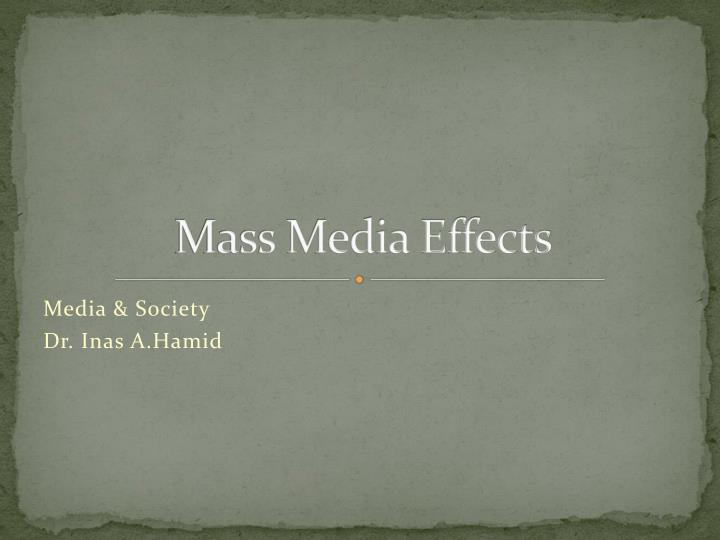 mass media effects n.