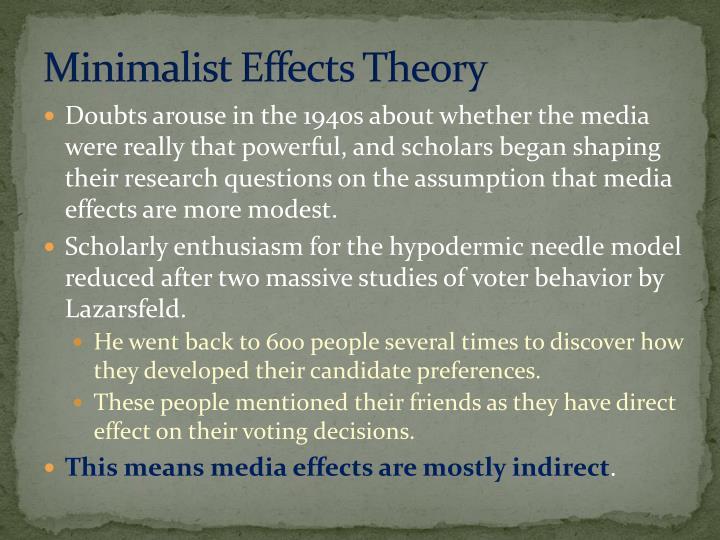 Minimalist Effects Theory