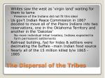 the dispersal of the tribes