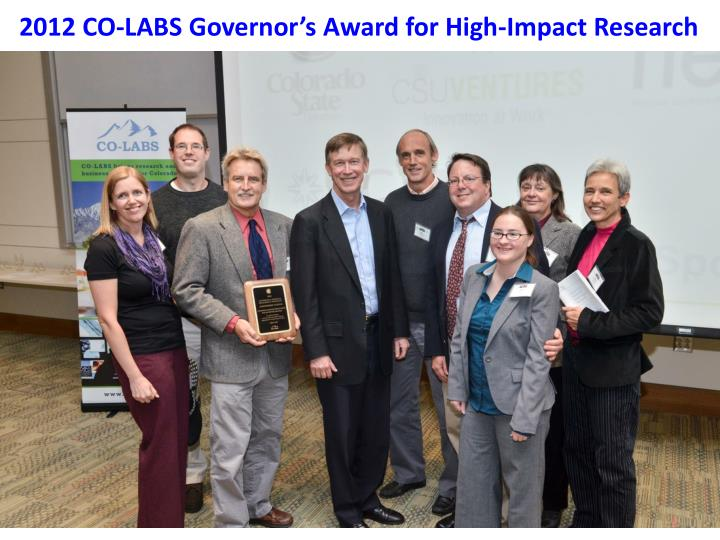 2012 CO-LABS Governor's Award for High-Impact Research