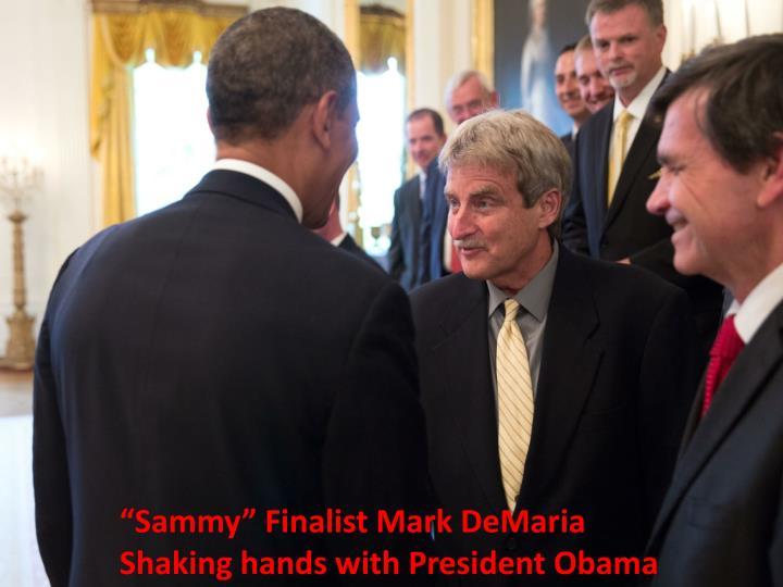 """""""Sammy"""" Finalist Mark DeMaria"""