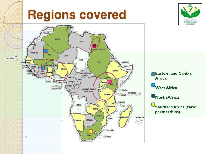 Regions covered
