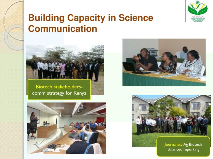 Building Capacity in Science Communication