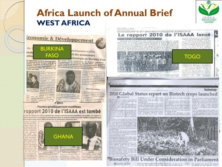 Africa Launch of