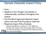 sample disparate impact policy
