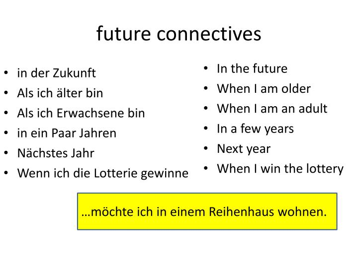 future connectives