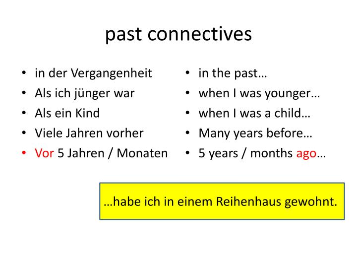 past connectives