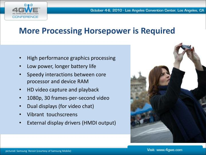 More Processing Horsepower is Required