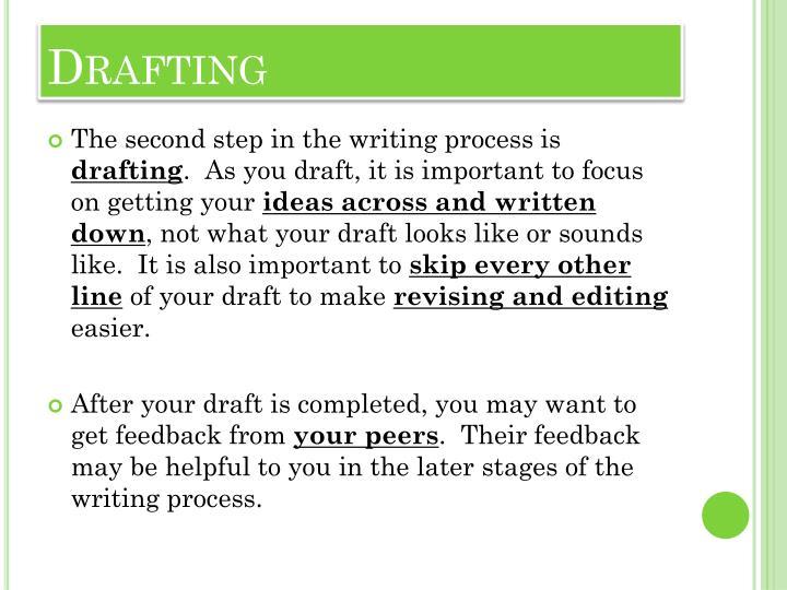drafting writing process