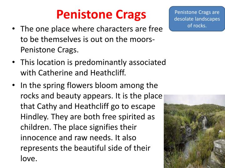 Penistone Crags are desolate landscapes of rocks.