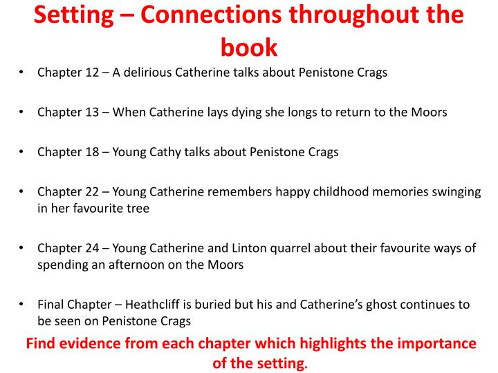 Setting – Connections throughout the book