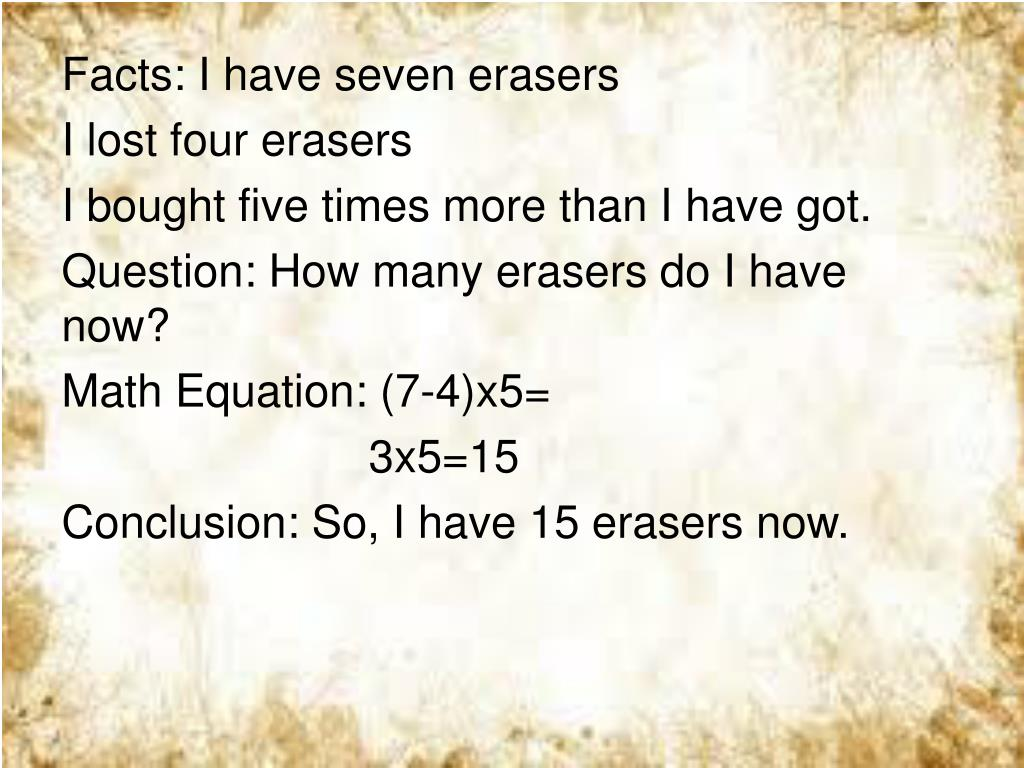 PPT - My PEMDAS Word Problem Created by: caca 5a PowerPoint