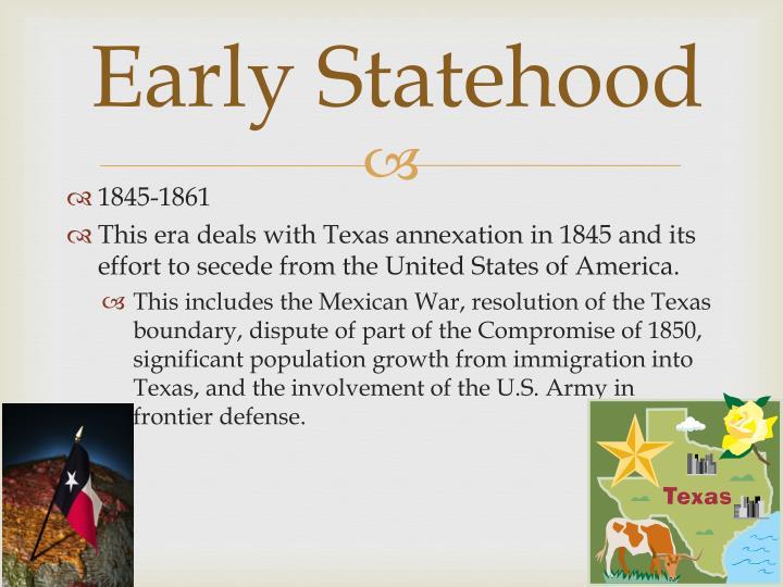 Early Statehood