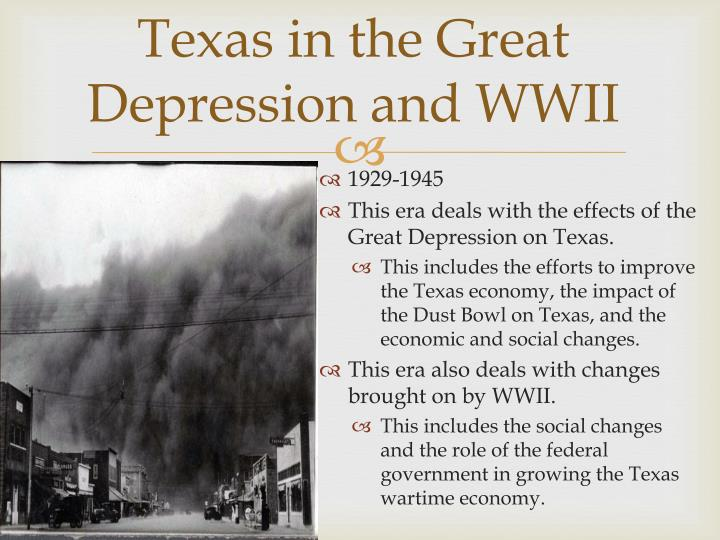 Texas in the Great Depression and WWII