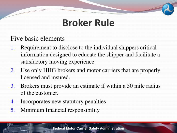 Broker Rule
