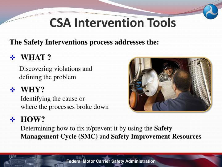CSA Intervention Tools