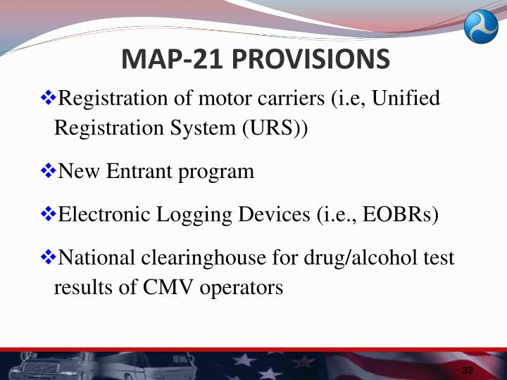 MAP-21 PROVISIONS