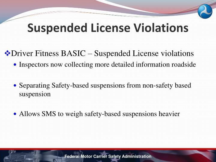 Suspended License Violations