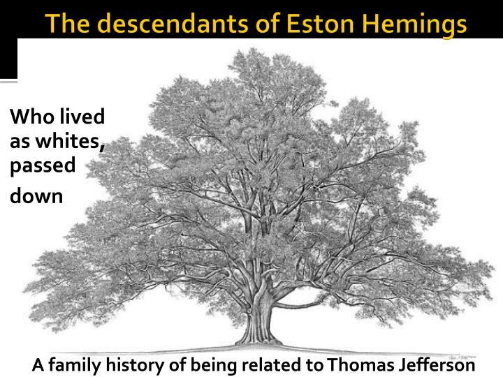 The descendants of