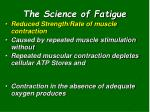 the science of fatigue