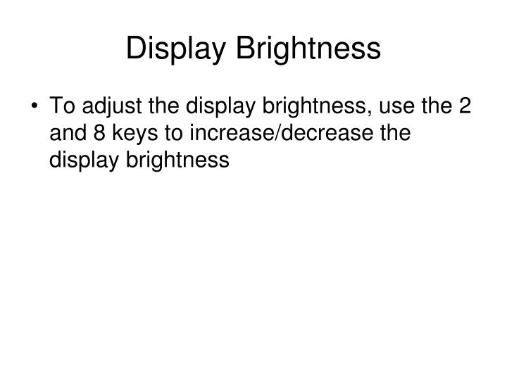 Display Brightness