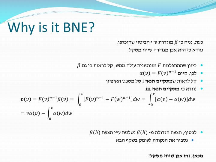 Why is it BNE?