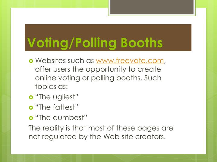 Voting/Polling Booths