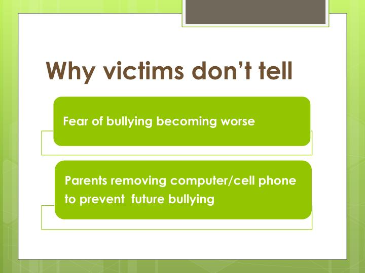Why victims don't tell