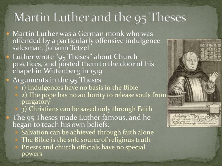 luthers 91 thesis Find great deals on ebay for martin luther 95 theses shop with confidence.