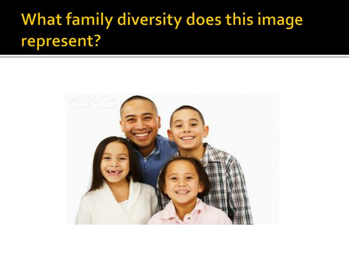 What family diversity does this image represent
