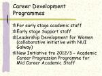 career development programmes