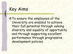 key aims