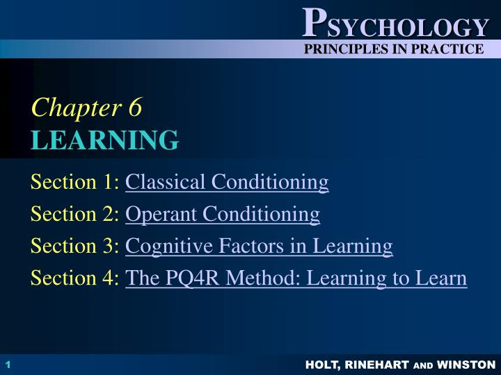 an overview of the learning methods of classical and operant conditioning Operant conditioning: strategies for changing behavior pg 2 a2 prompting prompts are events t hat help initiate a response allow response to occur and be reinforced.