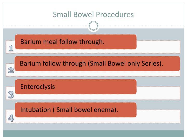 Small bowel procedures1