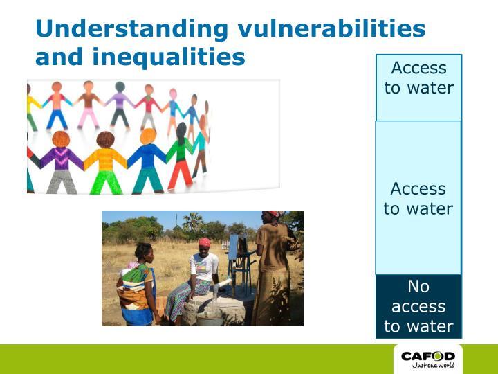 Understanding vulnerabilities and inequalities