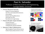 paul a salvador professor of materials science and engineeering carnegie mellon university