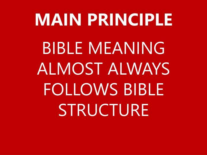 Main principle