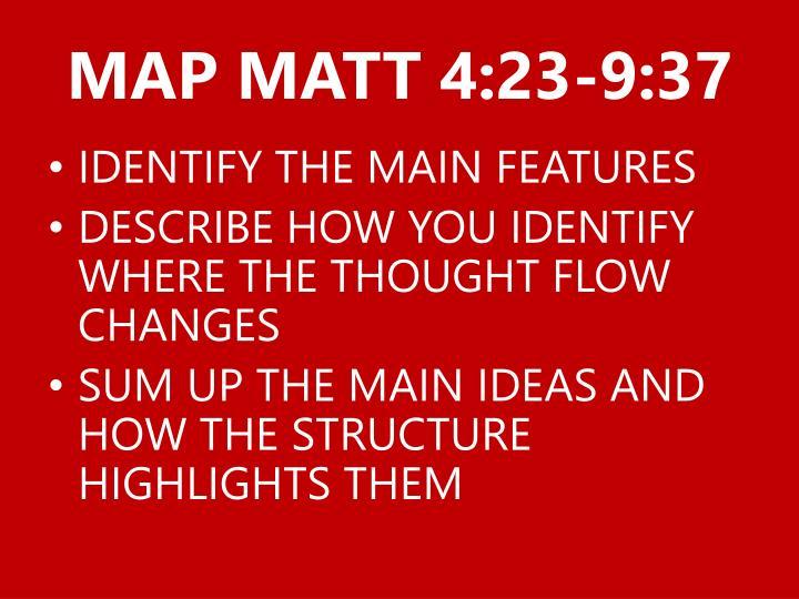 MAP MATT 4:23-9:37