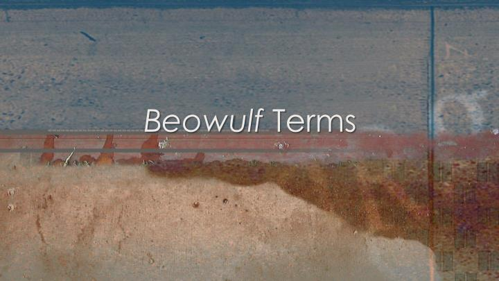 Beowulf terms