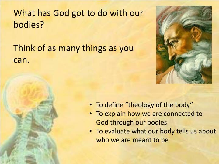 theology of the body explained Learn about theology of the body with free interactive flashcards browse 500 sets of theology of the body flashcards.