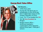 george bush takes office