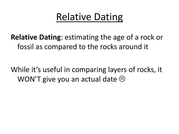 hvordan bruger geologen relativ dating dating costa ricaner