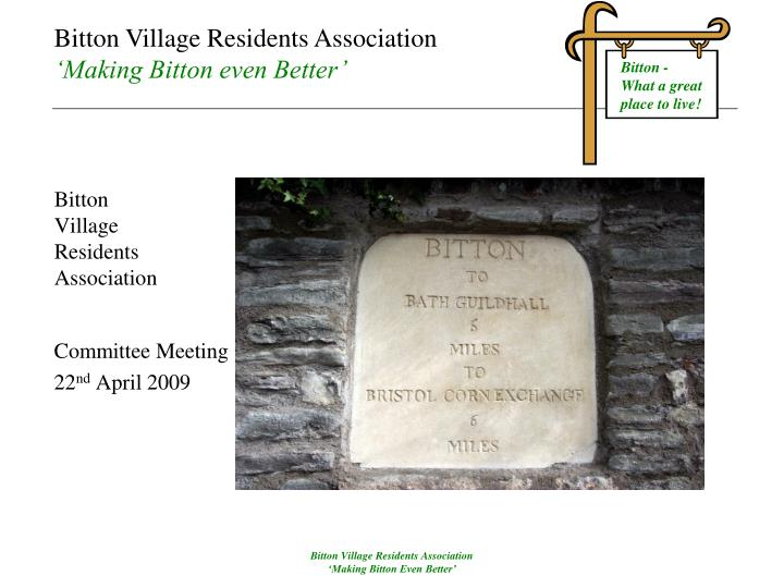 bitton village residents association n.