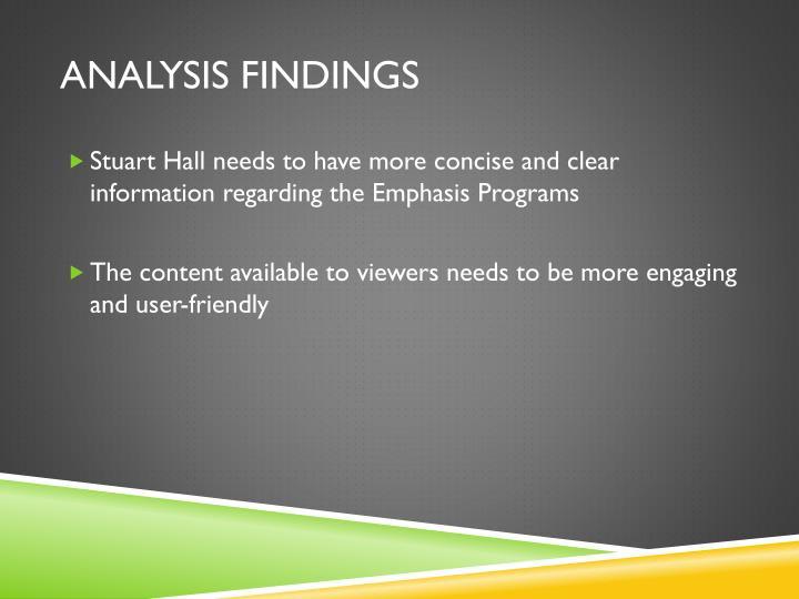 analysis findings