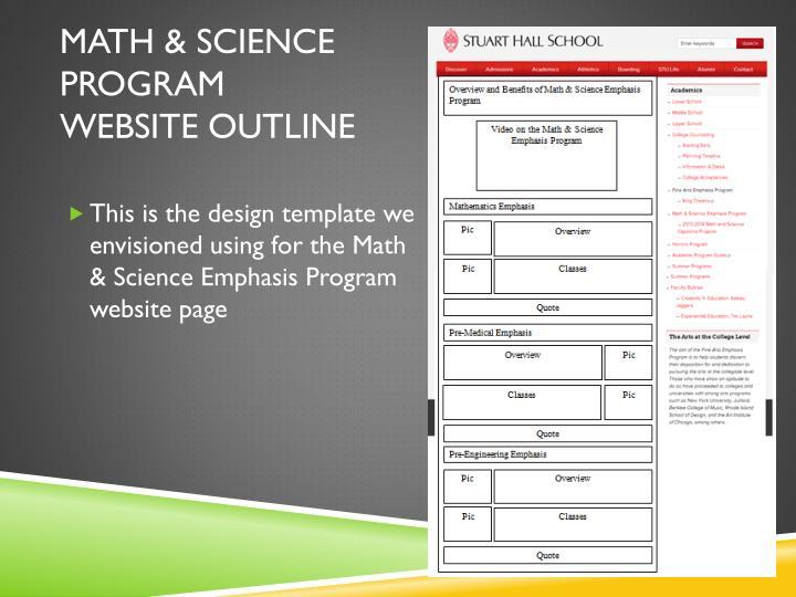 Math & science program